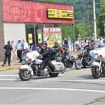 Police department rides motorcycles